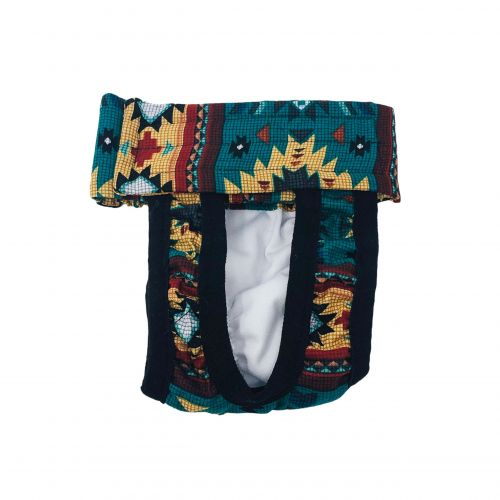 american southwest pattern on blue teal diaper pull-up