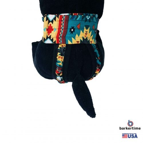 american southwest pattern on blue teal diaper pull-up. - model 2