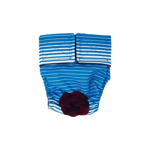 blue stripes waterproof diaper