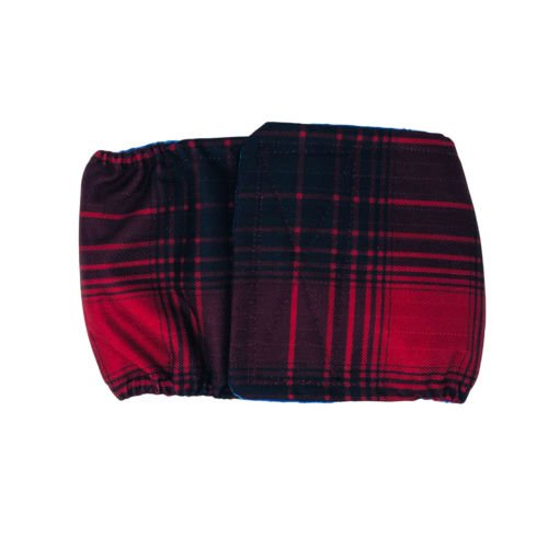 red plaid waterproof belly band