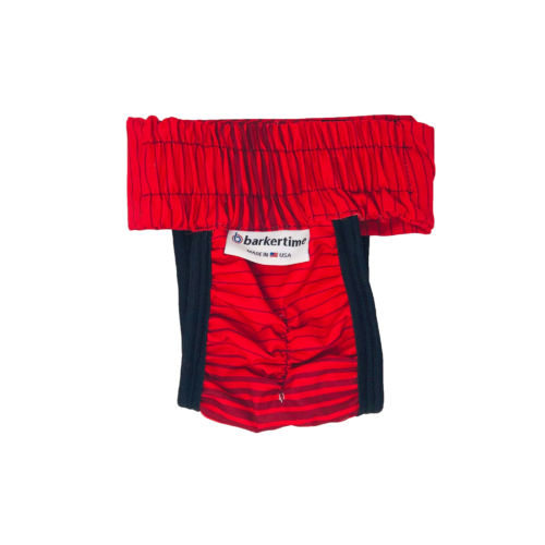 red stripes waterproof diaper pull-up - back