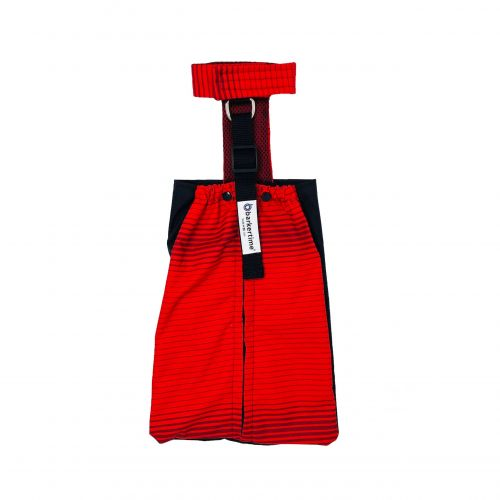 red stripes waterproof drag bag
