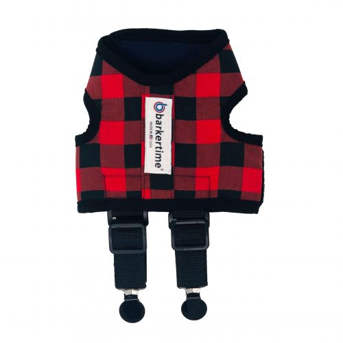 buffalo plaid suspender harness