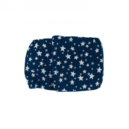 white stars on navy blue belly band