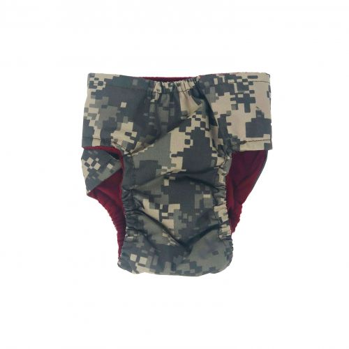 digital camo diaper - back