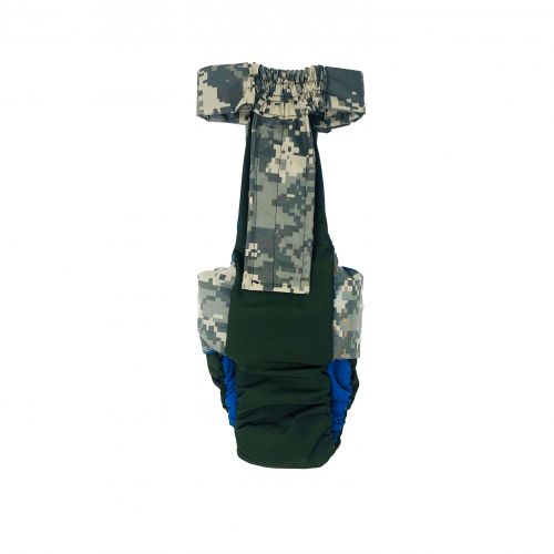 digital camo on green premium diaper overall - back