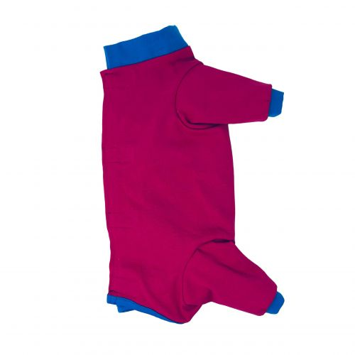 fuchsia pink with blue cuff peejama long sleeve