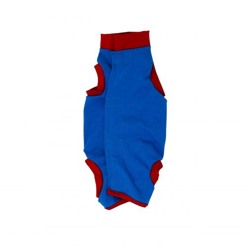 royal blue with red cuff peejama short sleeve