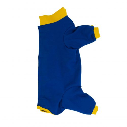 royal blue with yellow cuff peejama long sleeve