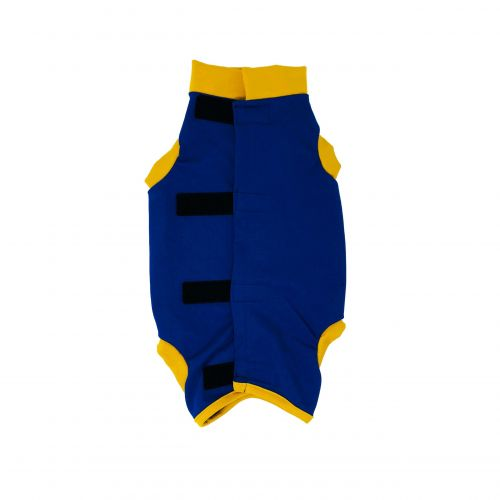 royal blue with yellow cuff peejama short sleeve