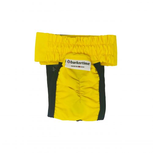 yellow waterproof diaper pull-up - back