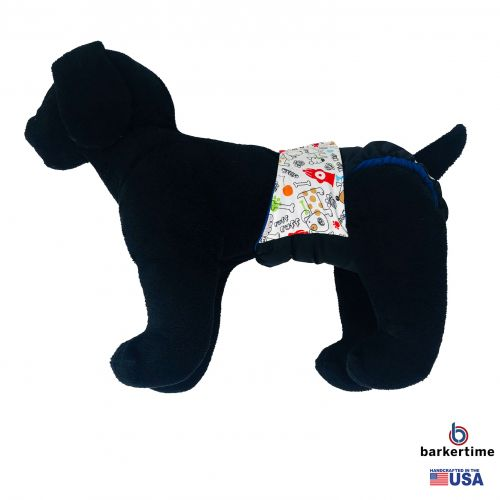Ruff ruff on black diaper - model 1