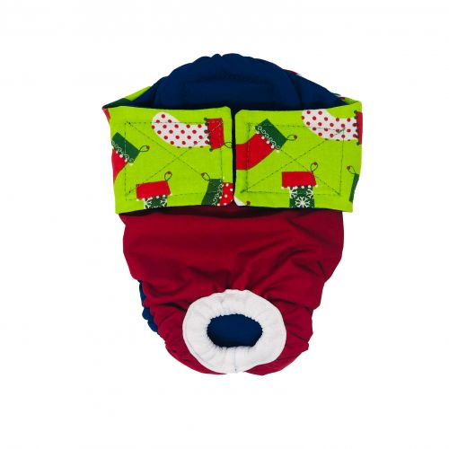 christmas stocking on red diaper