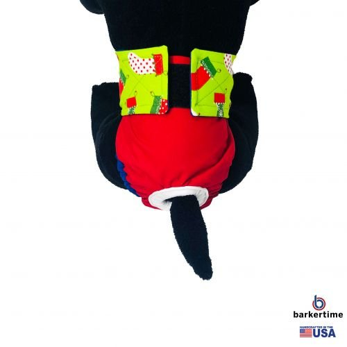 christmas stocking on red diaper - model 2
