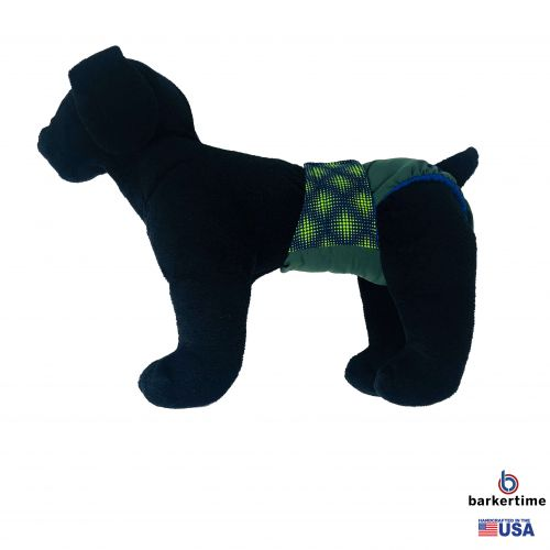 green dots on green diaper - model 1