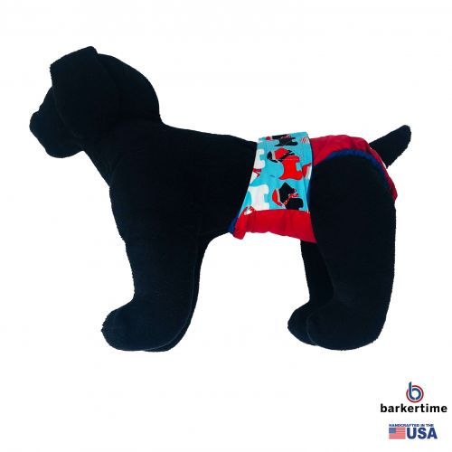 holiday doggie on red diaper - model 1