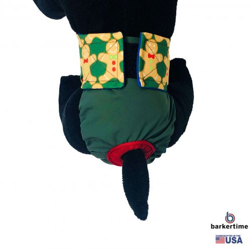 holiday gingerbread man on green diaper - model 2