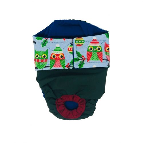 holiday owl on green diaper