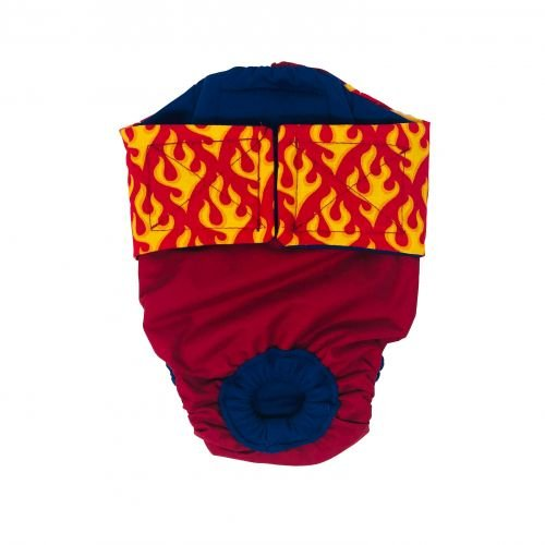 hot flames on red diaper