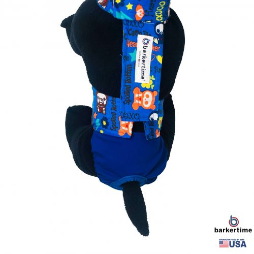 sweet baby spoiled rotten on royal blue diaper overall - model 2