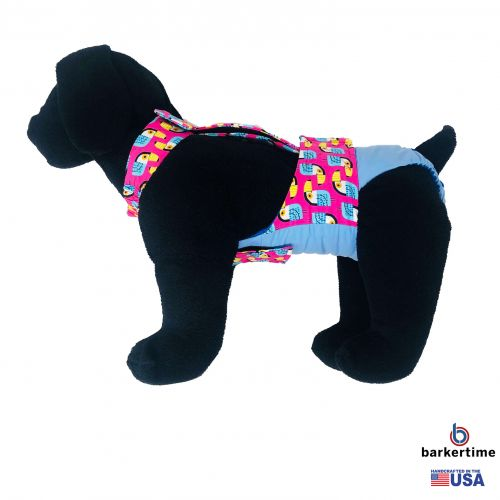 toucan on pink on baby blue diaper overall - model 1