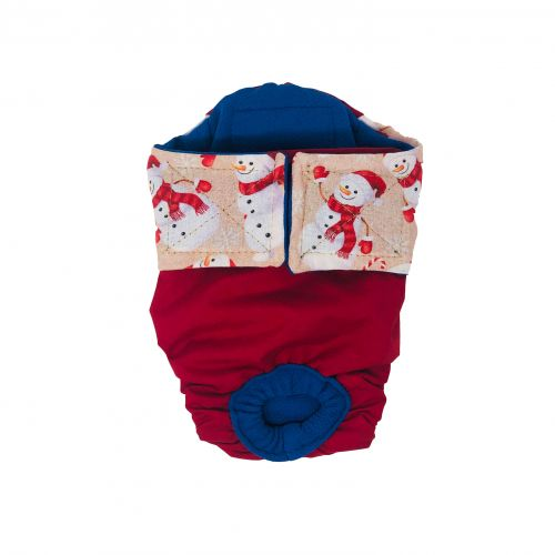 snowman on red diaper