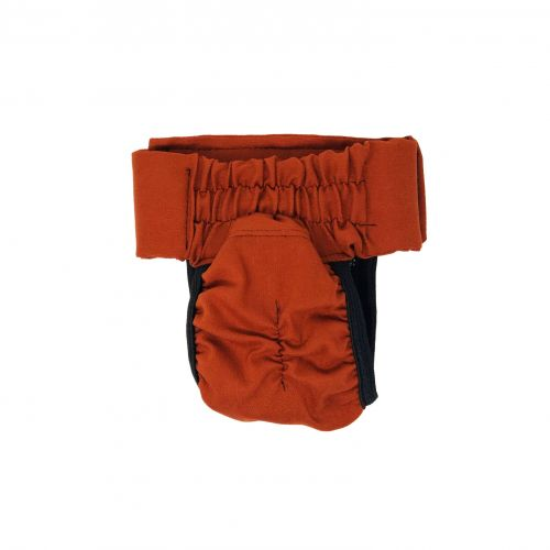 burnt orange diaper pull-up - back