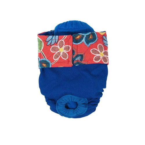 four seasons red flowers on blue diaper