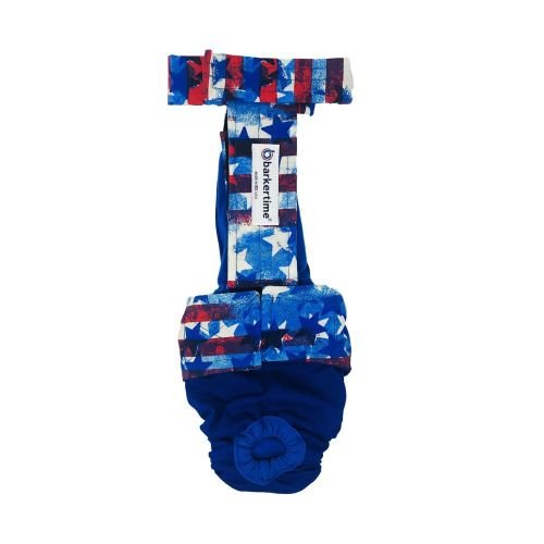 patriotic stars and stripes diaper overall