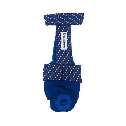 patriotic stars on blue diaper overall