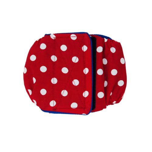 red polka dot belly band