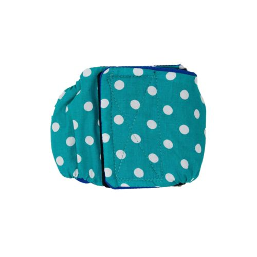 turquoise blue polka dot belly band